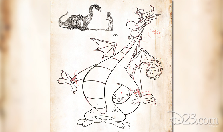 (top left) Genie, as a dragon, and Aladdin from Aladdin, (center) Genie as a dragon from Aladdin