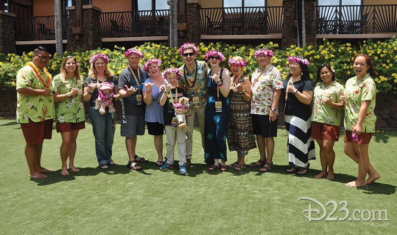 D23 Members pose for a group shot