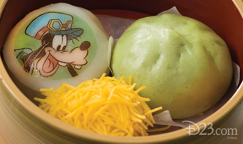 Goofy green steam buns
