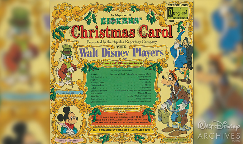DICKENS' CHRISTMAS CAROL with The Walt Disney Players album cover