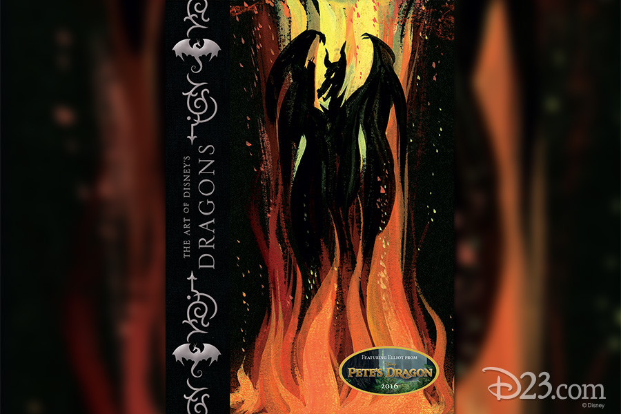 Cover art for The Art of Disney's Dragons featuring Maleficent from Sleeping Beauty