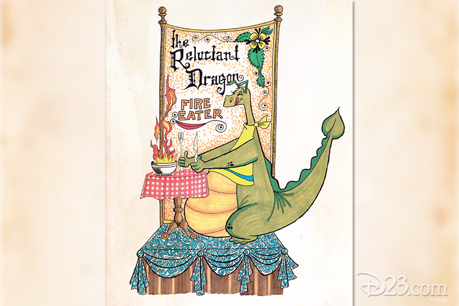 Dragon (The Reluctant Dragon) from a never-produced area called Dumbo Circus at Disneyland, planned for opening circa 1976