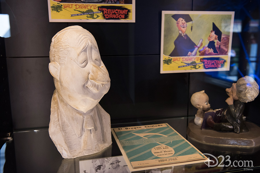 A bust created for star Robert Benchley in The Reluctant Dragon and an animator's model of Baby Weems.