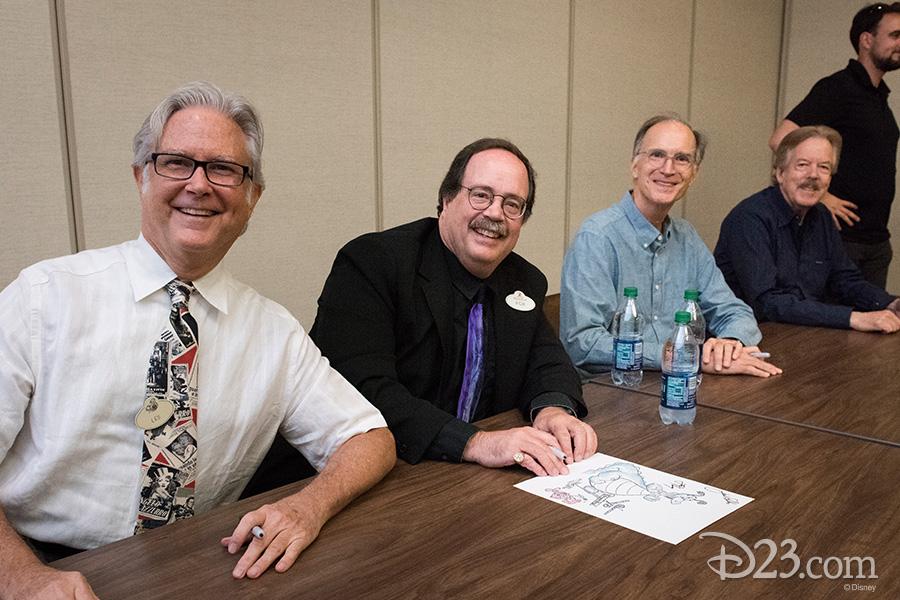Les Perkins, Fox Carney, Ted Thomas, and Tony Baxter