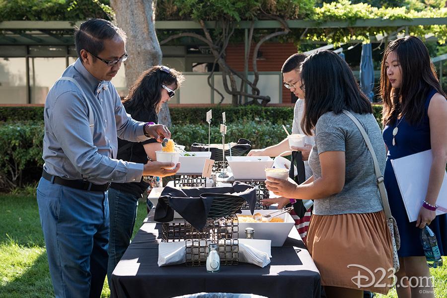 D23 Members enjoying Walt's chili