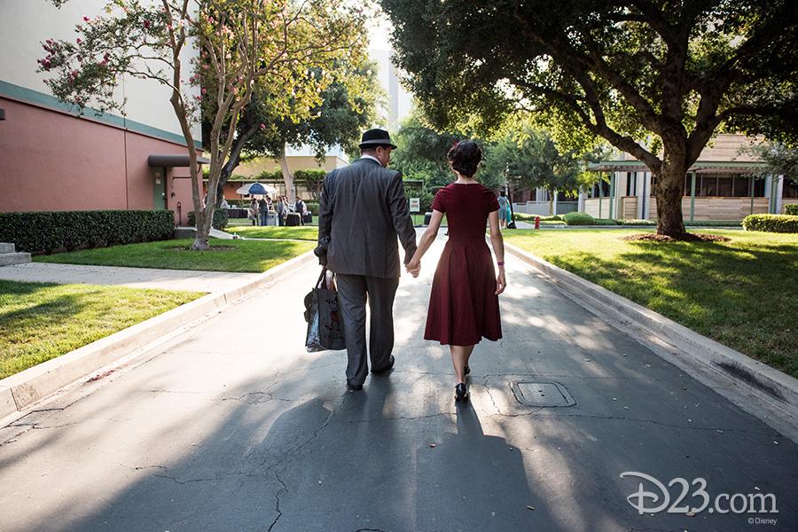 D23 Members walking on the Walt Disney Studio Lot
