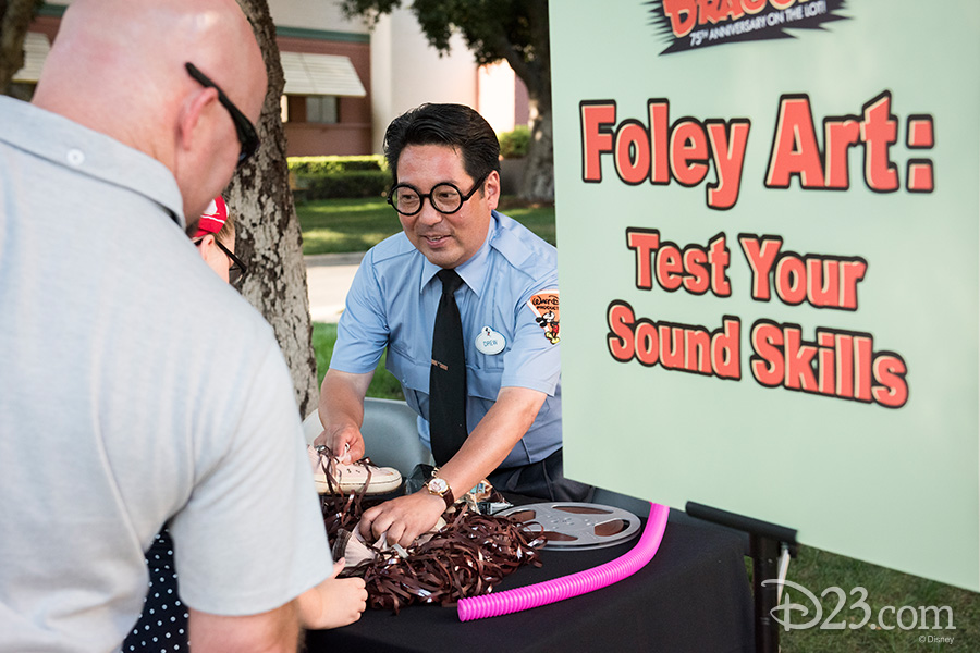 A Studio guide demonstrates the art of Foley