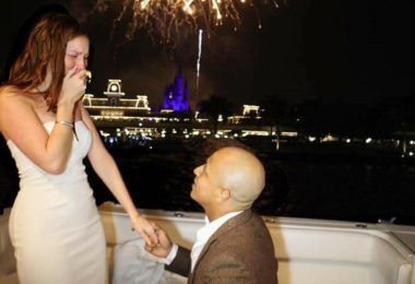 2 Guests during a marriage proposal