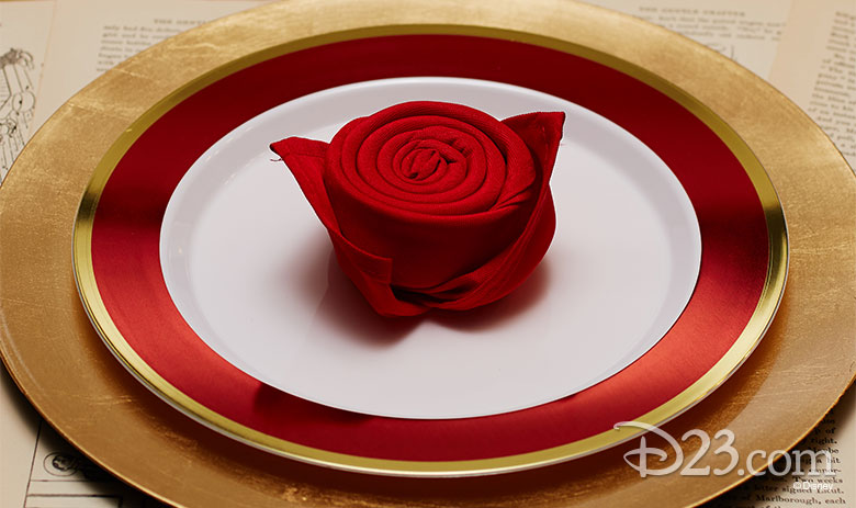 Beauty and the Beast place settings