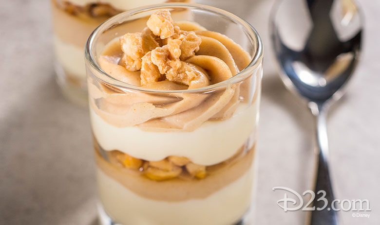Peanut Butter and White Chocolate Mousse with a Caramel Drizzle