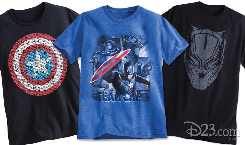 1999957be25 Disney Store Marvel merchandise. Terrific Tees