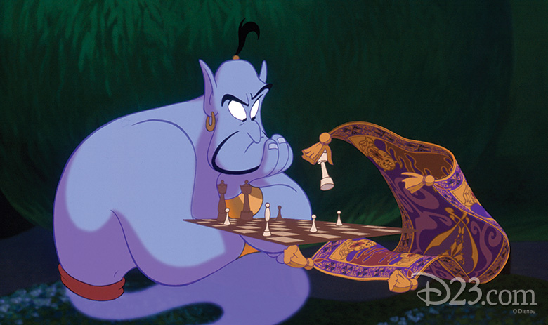 Genie and Carpet Chess Match
