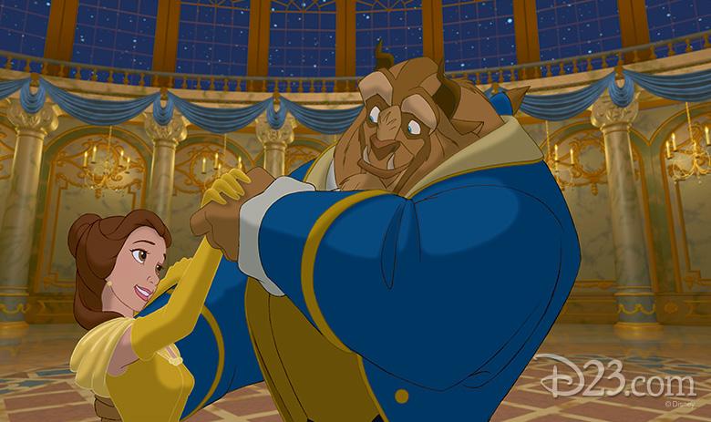 Belle and Beast dancing