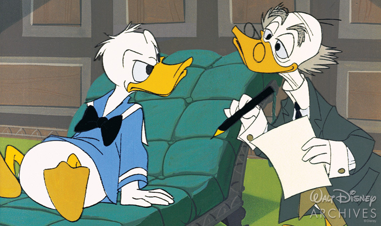 Donald Duck and Ludwig Von Drake