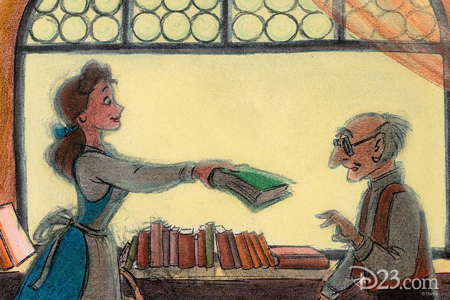 Belle at the Bookshop Concept Art