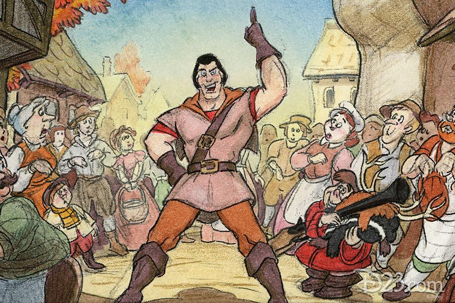 Gaston and LeFou Concept Art