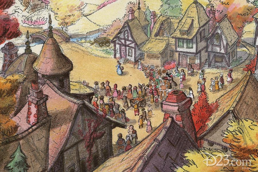 Belle's town concept art