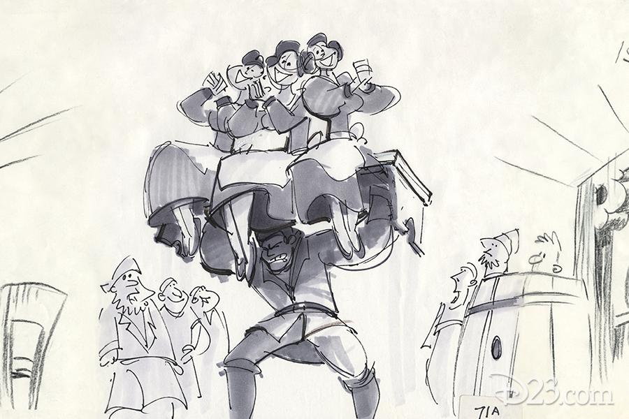 """Gaston"" scene concept art"
