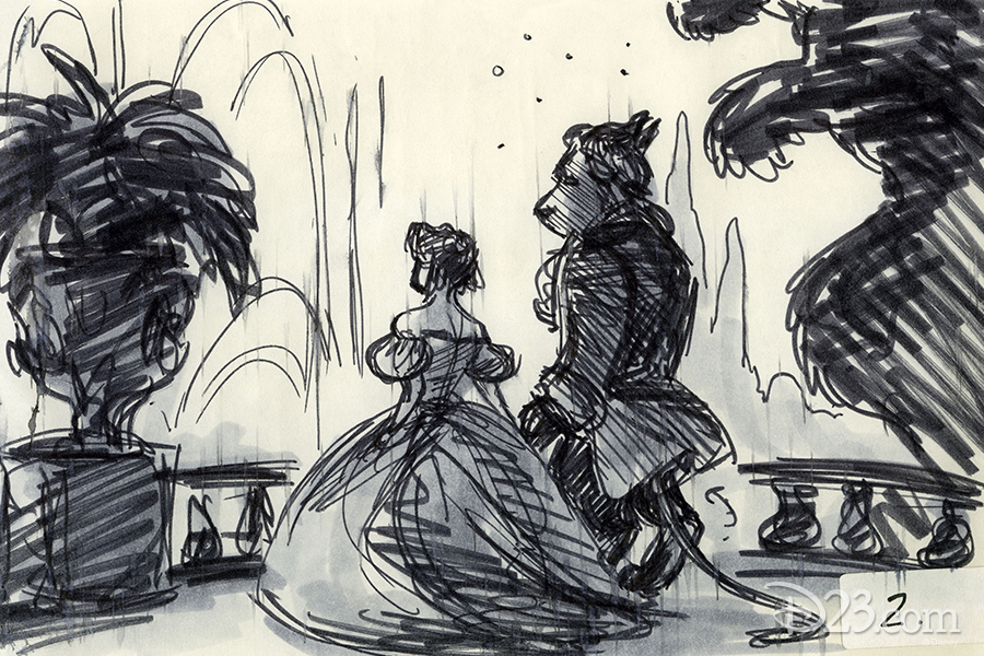 Belle and Beast concept art