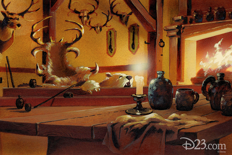 Beauty and the Beast tavern concept art
