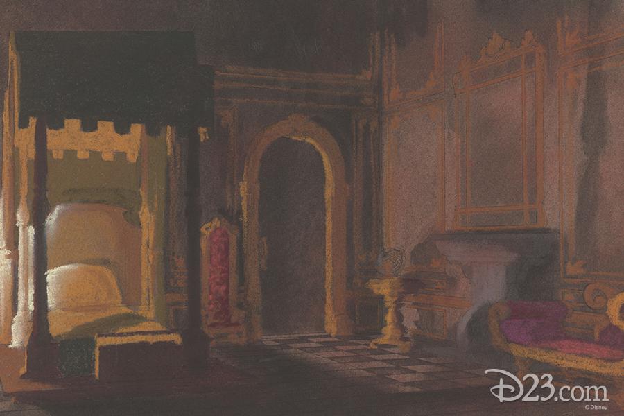 Belle's room in Beast's castle concept art