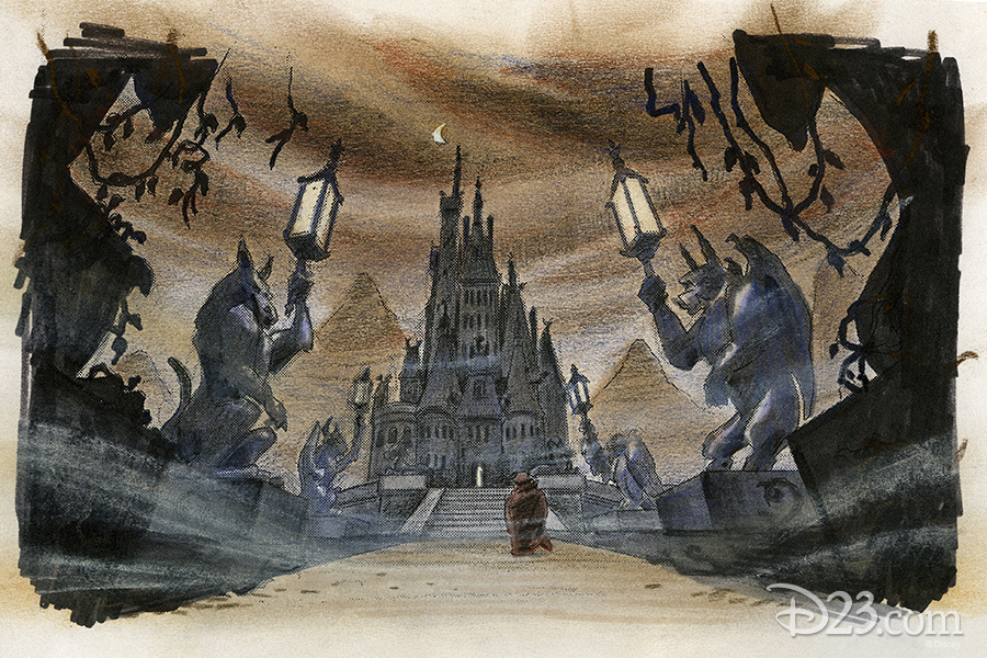 Maurice at the castle concept art
