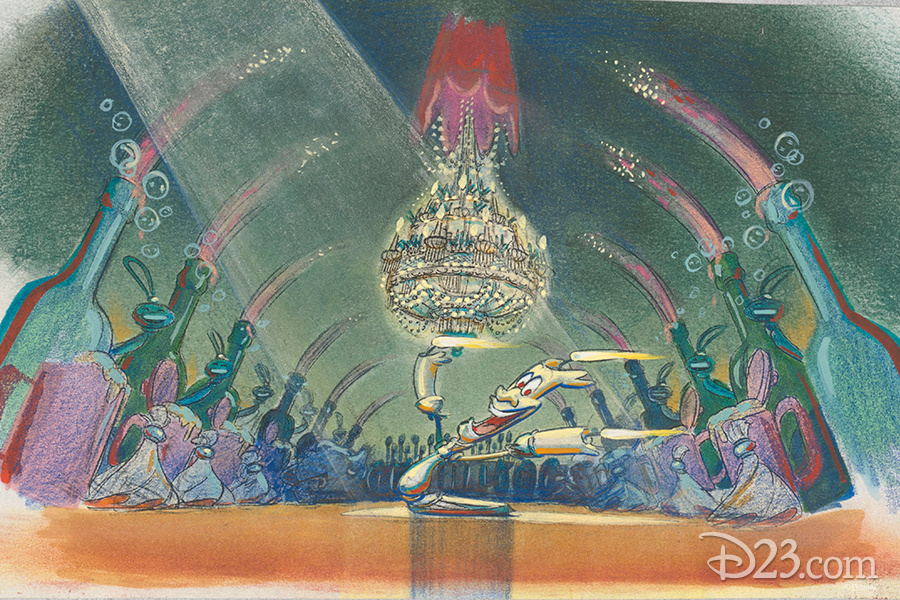 "Lumiere during ""Be Our Guest"" concept art"