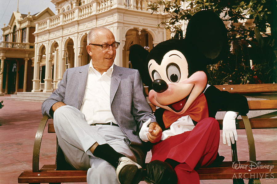 Roy O. Disney and Mickey Mouse