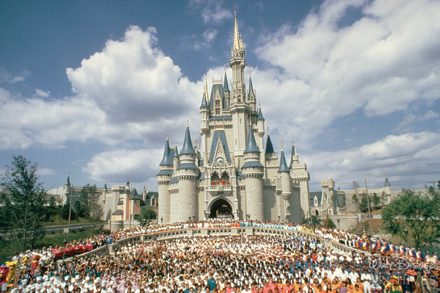Cinderella Castle at WDW opening
