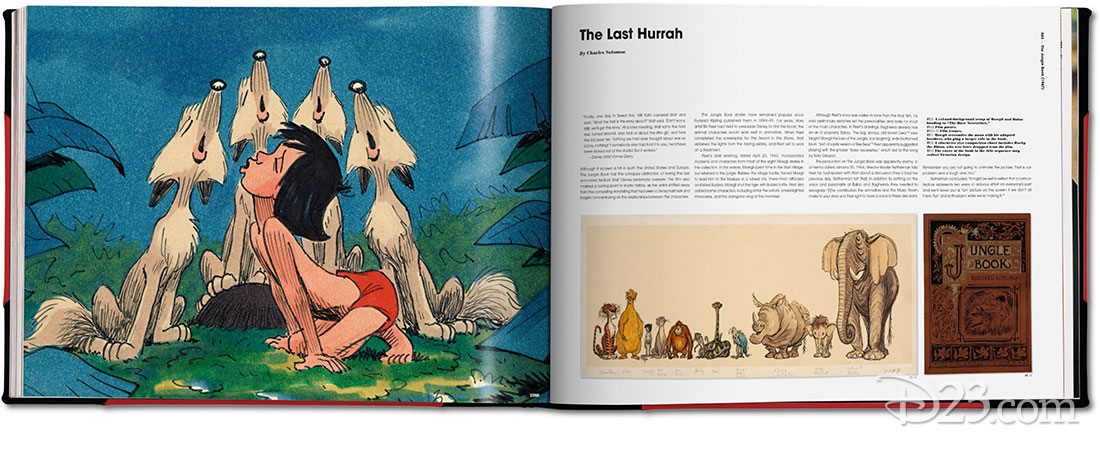spread from The Walt Disney Film Archives: The Animated Movies 1921–1968