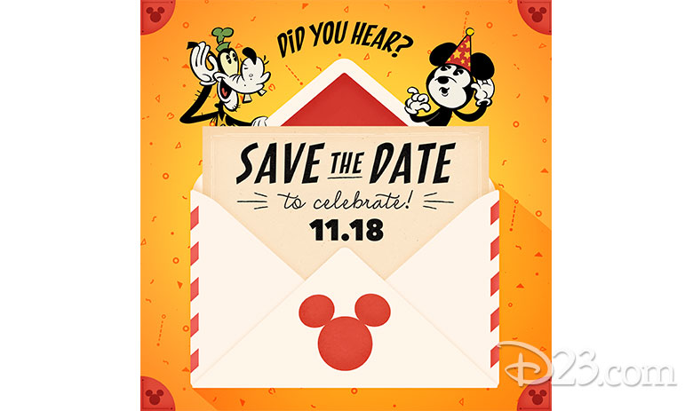 Mickey Mouse birthday save the date