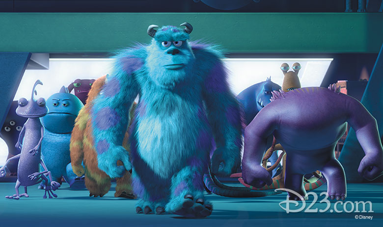 A variety of monsters from Monsters Inc.