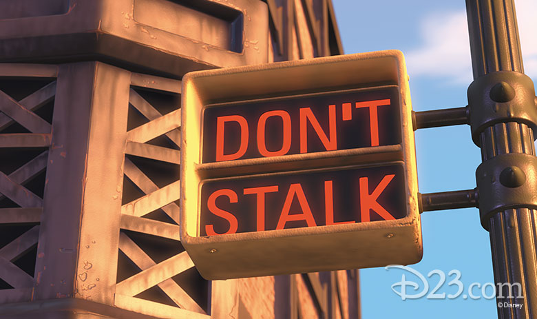 Monsters Inc. street sign