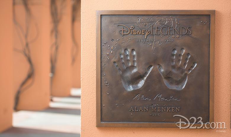 Alan Menken Legend plaque
