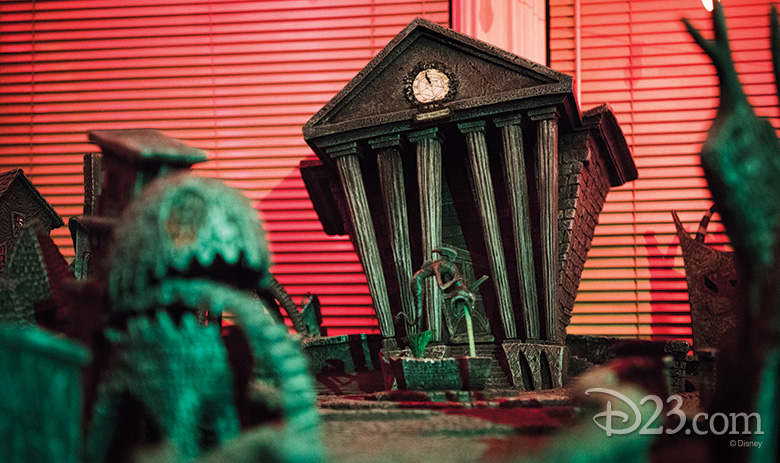 "Tim Burton's The Nightmare Before Christmas (1993) ""Halloweentown"" diorama"