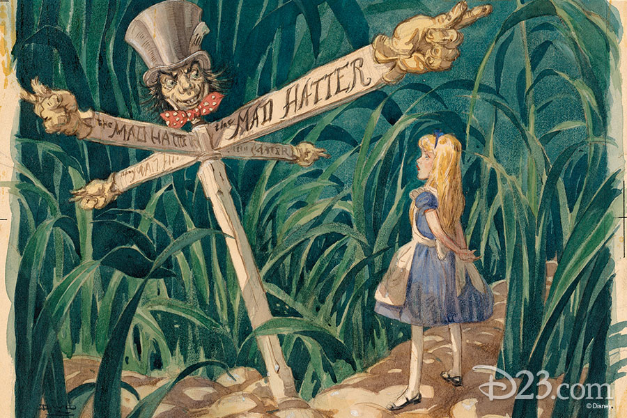 Alice in Wonderland concept art from The Walt Disney Film Archives: The Animated Movies 1921–1968