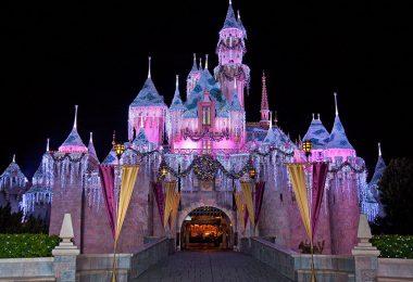 Sleeping Beauty Castle Disneyland holidays