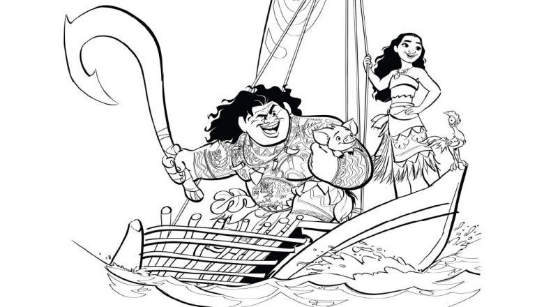 You\'ll Love These Printable Moana Coloring Pages - D23