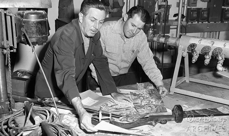 Walt Disney and Bob Mattey