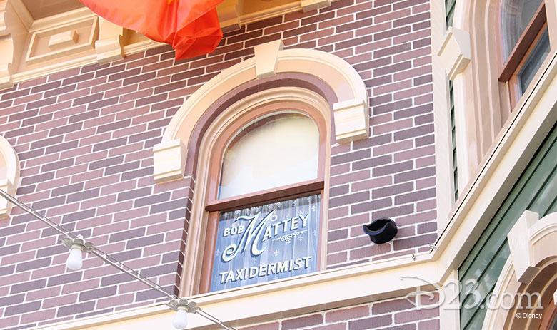 Bob Mattey window on Main Street U. S. A. in Disneyland