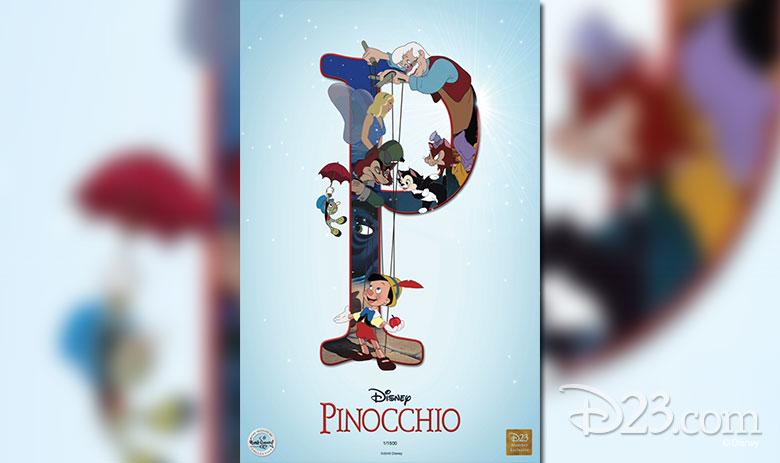 Pinocchio lithograph