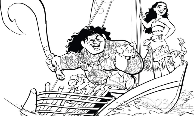 moana and maui coloring pages You'll Love These Printable Moana Coloring Pages   D23 moana and maui coloring pages