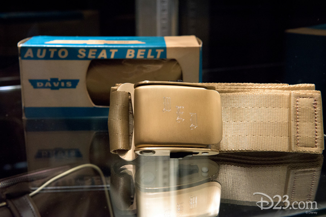 Seatbelt from Walt Disney Productions' Grumman Gulfstream I Manufactured by Davis Aircraft Products, Inc.