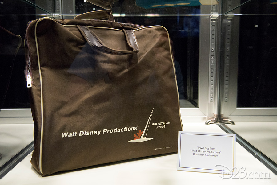 Travel bag from Walt Disney Productions' Grumman Gulfstream I