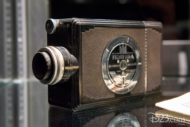 16mm camera used by Walt Disney during his South American goodwill tour. Footage featured in Saludos Amigos 1943