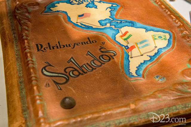 Scrapbook given to Walt Disney during his South American goodwill tour, early 1940s