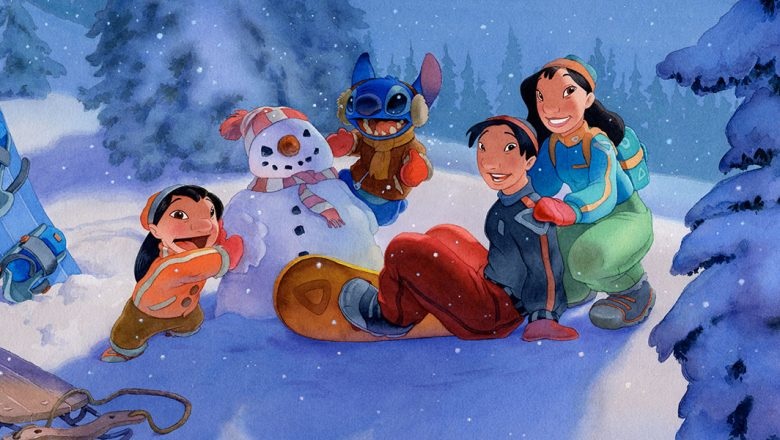Lilo & Stitch holiday art