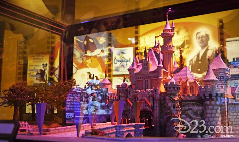 A model of Sleeping Beauty Castle for Disneyland Park.