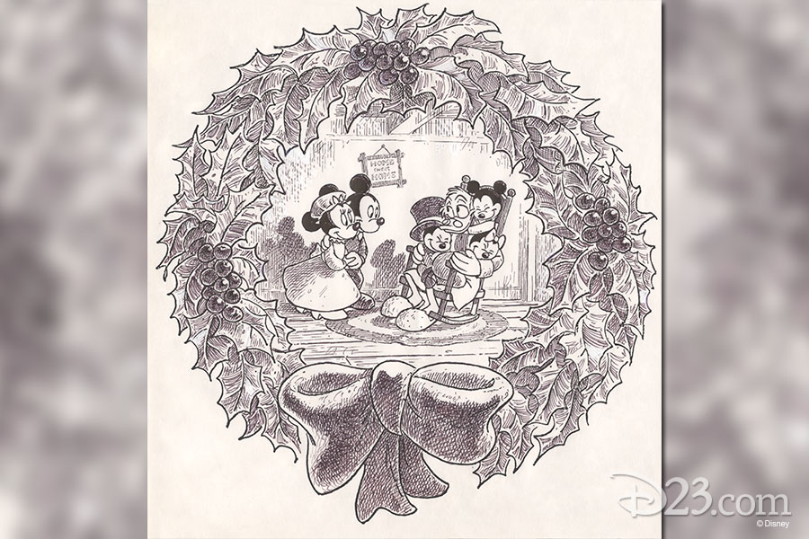Layout overlay by a Disney Studio Artist - Mickey's Christmas Carol (1983)