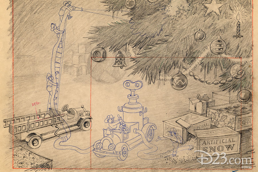 Layout by Disney Studio Artist - The Night Before Christmas (1933)